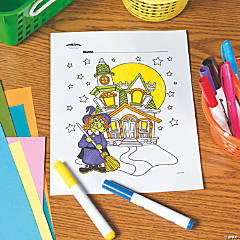 Haunted House Free Printable Coloring Page