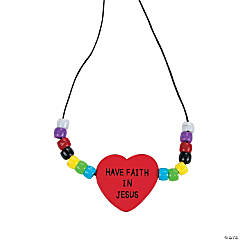 """Have Faith in Jesus"" Beaded Necklace Craft Kit"