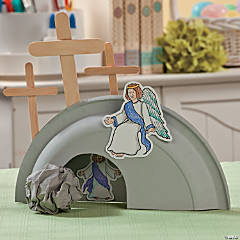 He is Risen Paper Plate Tomb Craft Idea