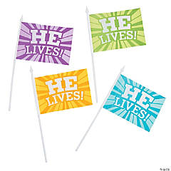 He Lives Flags