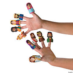 He Lives Puffy Finger Puppets