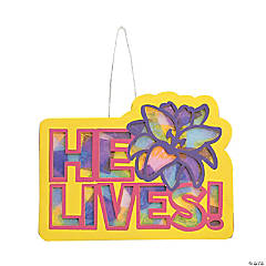 He Lives Tissue Paper Sign Craft Kit