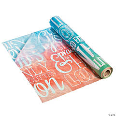 He Lives Watercolor Plastic Tablecloth Roll