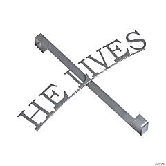 He Lives Wreath Door Hanger