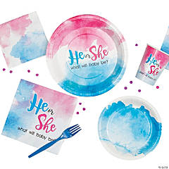 He or She Gender Reveal Party Supplies