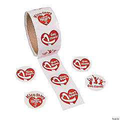 Healthy Heart Roll of Stickers