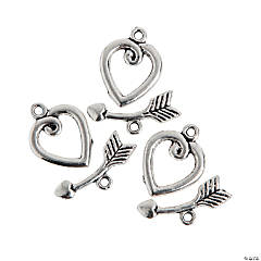 Heart & Arrow Toggle Clasps