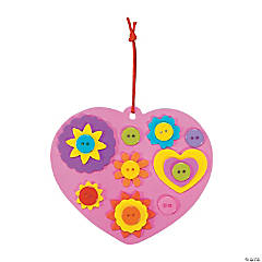 Heart & Button Ornament Craft Kit