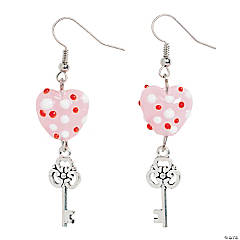 Heart & Key Earrings Craft Kit