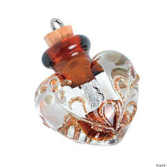 Heart Bottle Pendant - 30mm