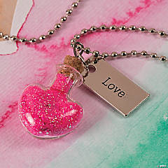 Heart Bottle Pendant Necklace Idea