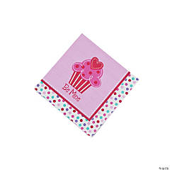 Heart Cupcake Beverage Napkins