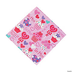 Heart Cupcake Luncheon Napkins