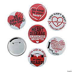 Heart Disease Awareness Buttons