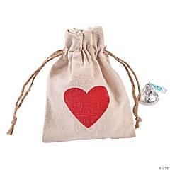 Heart Drawstring Bags
