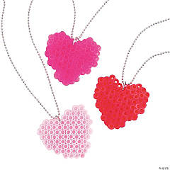 Heart Fuse Bead Necklaces