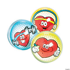 Heart Health Bouncy Ball Assortment