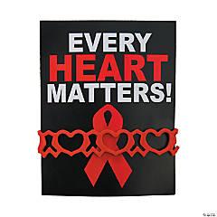 Heart Health Rubber Bracelets on Card