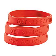Heart Health Rubber Bracelets