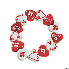 Heart Lampwork Bead Bracelet Craft Kit