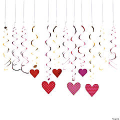 Heart of Gold Hanging Swirls