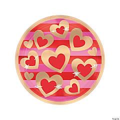 Heart of Gold Paper Dinner Plates