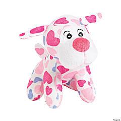 Heart Print Stuffed Dogs
