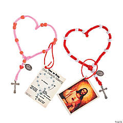 Heart Rosary Craft Kits