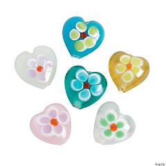 Heart-Shaped Flower Beads