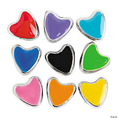 Heart-Shaped Large Hole Beads - 11mm
