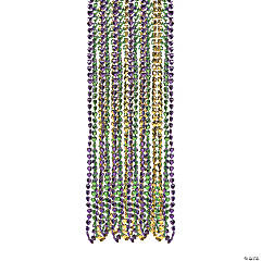 Heart-Shaped Mardi Gras Bead Necklaces