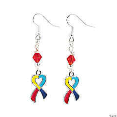 Heart-Shaped Multi-Colored Ribbon Earring Craft Kit