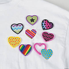 Heart Shaped Shirt Clips