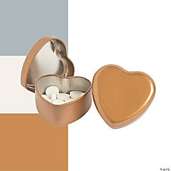 Heart-Shaped Tins with Mints