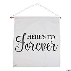 Here's to Forever Wedding Cotton Banner
