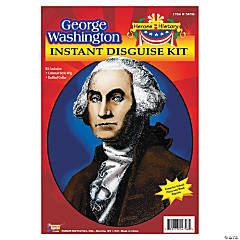 Heroes in History: George Washington Costume Wig & Collar