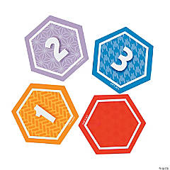 Hexagon Bulletin Board Calendar Day Cutouts
