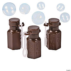 Hexagon Chocolate Brown Bubble Bottles