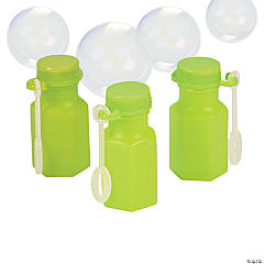 Hexagon Lime Green Bubble Bottles