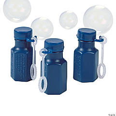 Hexagon Navy Blue Bubble Bottles