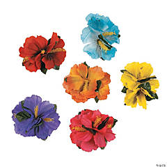 Hibiscus Hair Clips - 48 Pc.
