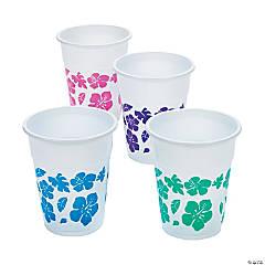 Hibiscus Plastic Cups