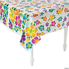 Hibiscus Plastic Tablecloth