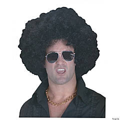 High Afro Black Wig