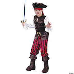 High Seas Buccaneer Pirate Costume for Boys