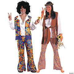 Hippie Man & Hippie Woman Couples Costumes