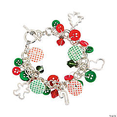 Holiday Button & Bead Bracelet Craft Kit