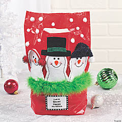 Holiday Plastic Bags with Handles Idea