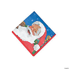 Holiday Santa Beverage Napkins