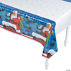 Holiday Santa Tablecloth
